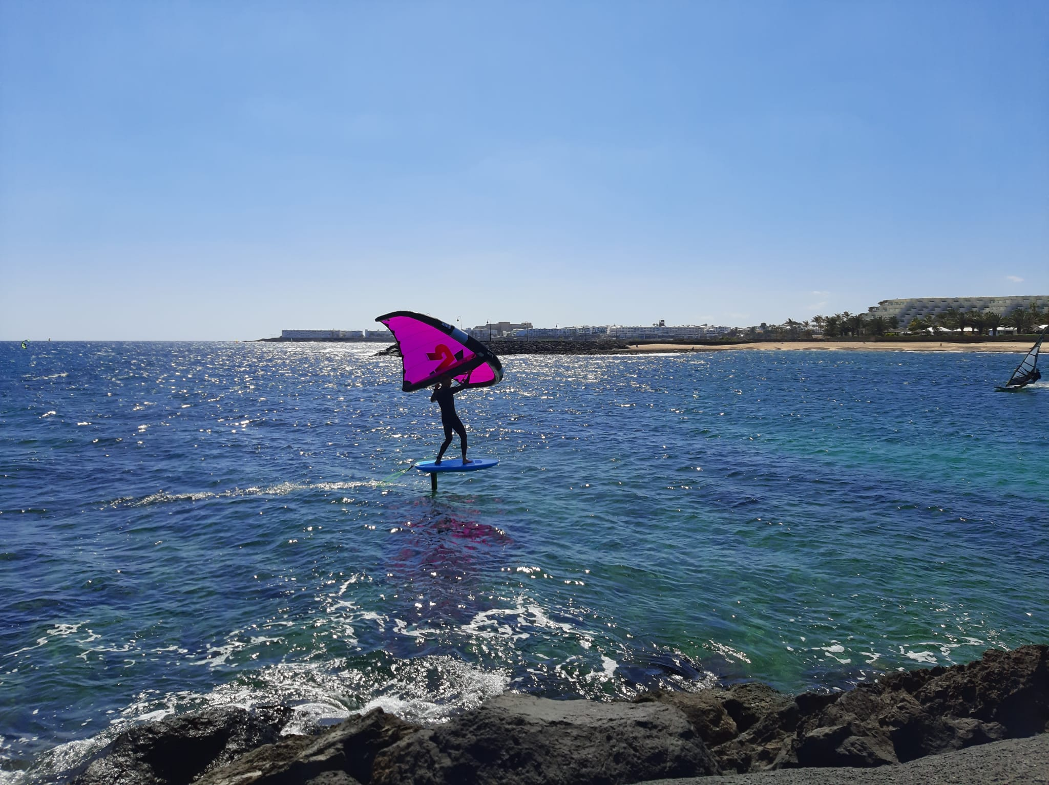wing foiling in costa teguise