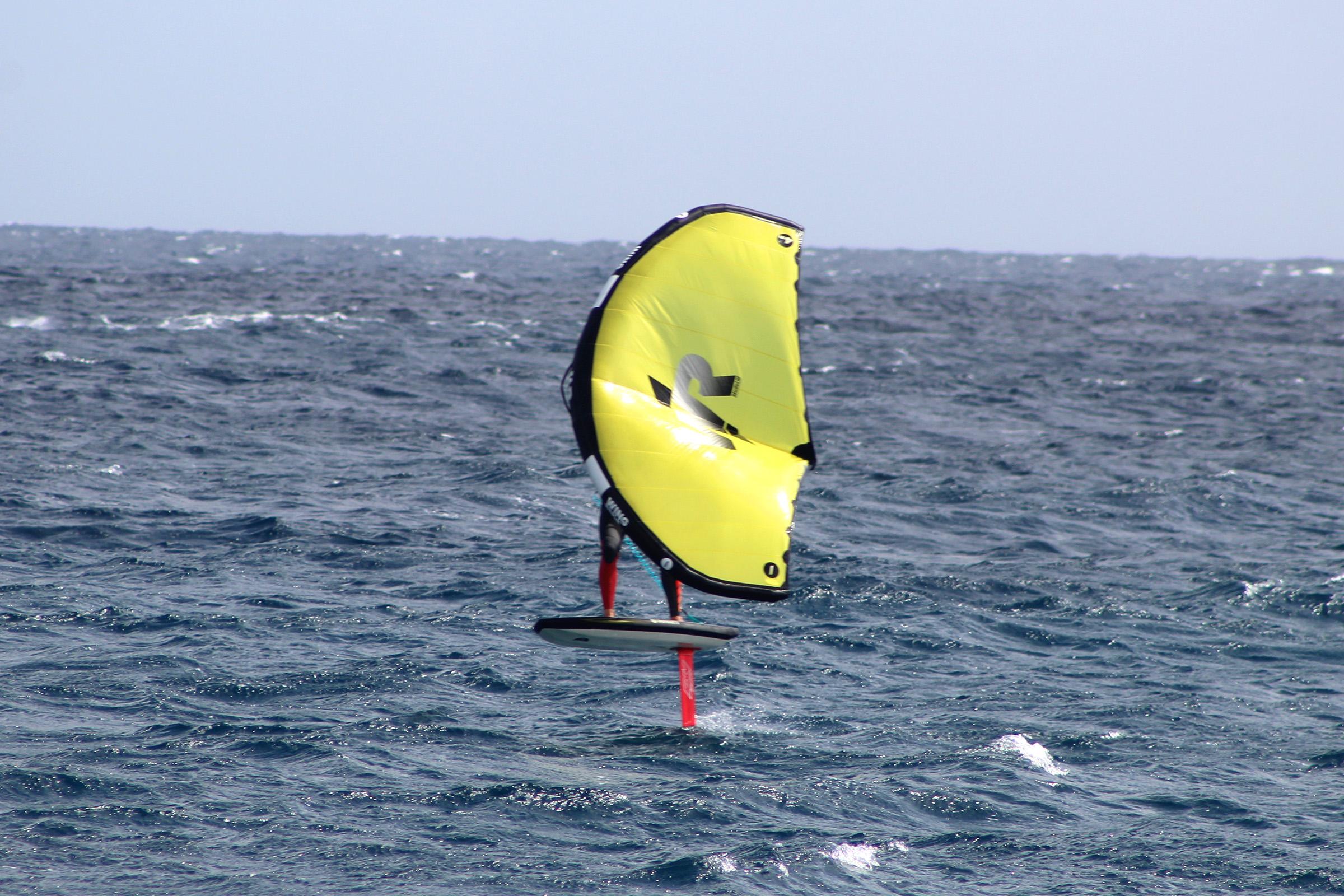 wing foiling in famara