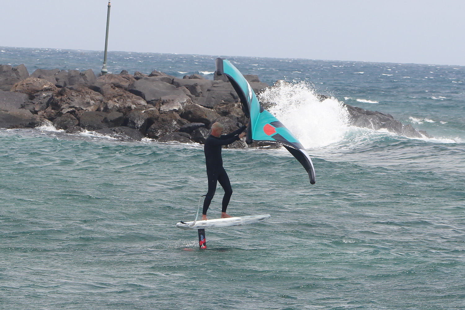 wing foiling lesson in lanzarote